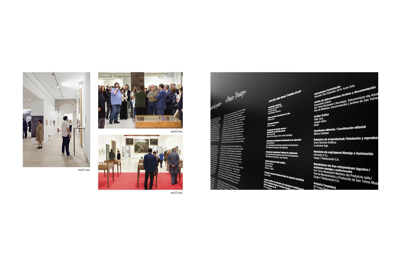 Donostia 2016- ek antlatutako Bake Ituna - Tratado de Paz erakusketa5