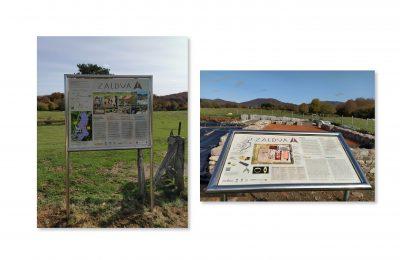 Zaldua (Auritz, Nafarroa) Indusketa gunerako panel informatiboak